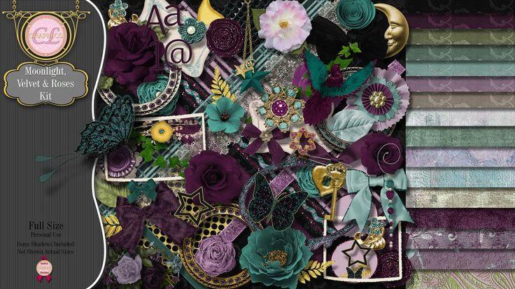 CLGraphics Moonlight Velvet and Roses Kit