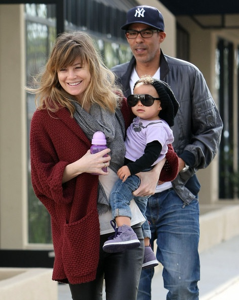 Ellen Pompeo, her husband Chris Ivery and daughter Stella.