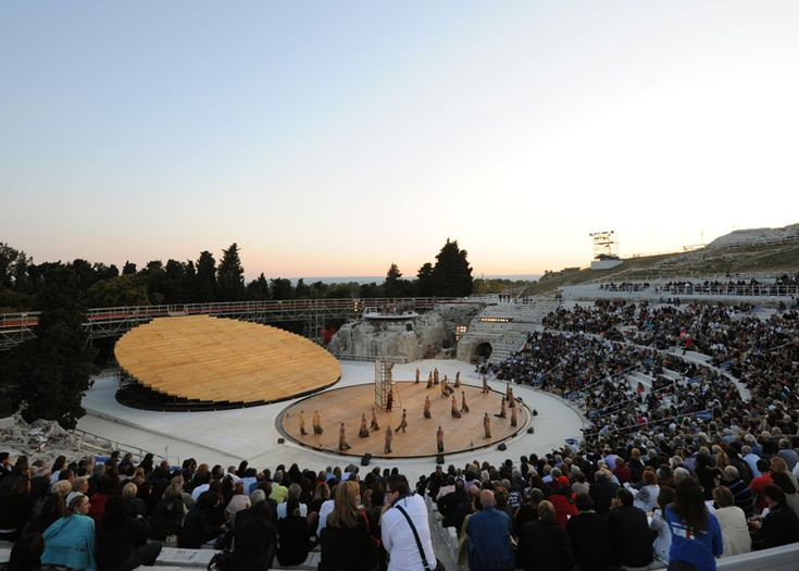 Designed by Rem Koolhaas' OMA, the modern update of this ancient Sicilian amphitheater is gorgeous to say the least.