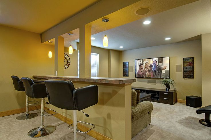 basement home theater and knee wall basement remodel pinterest