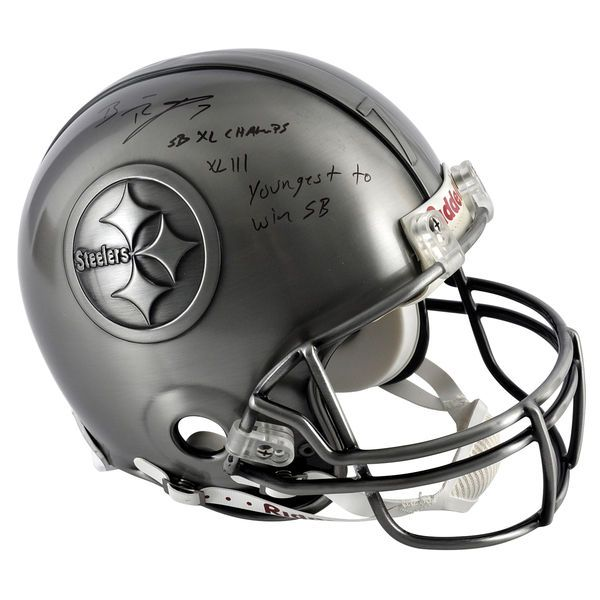 Ben Roethlisberger Pittsburgh Steelers Fanatics Authentic Autographed Pewter Helmet with Multiple Inscriptions - $2049.99