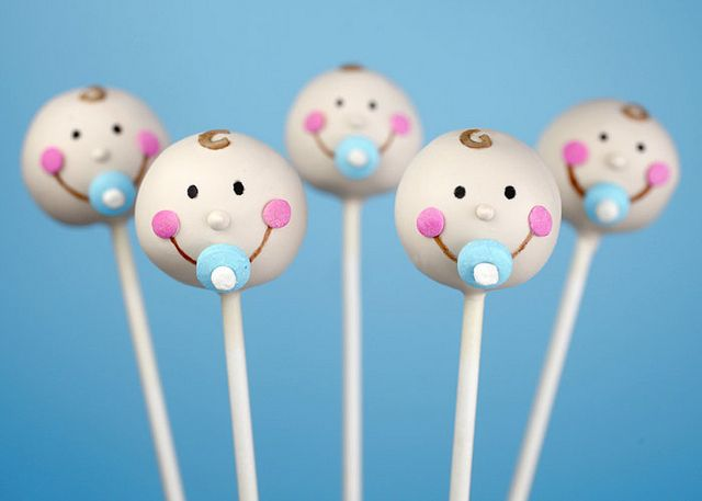 Baby Cake Pops by Bakerella. OK Andrea, you know I have to make these for your baby shower.