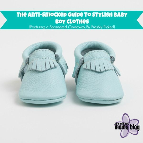 The Anti-Smocked Guide to Stylish Baby Boy Clothes {Featuring a Sponsored Giveaway By Freshly Picked} | New Orleans Moms Blog