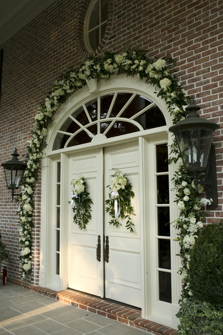 17 best images about house wedding decorations on for Wedding door decorating ideas