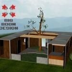 Shipping Container Home Japanese Style Courtyard