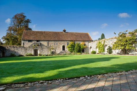 The cloisters where you can enjoy your reception drinks with your guests is very popular for photos. Leith's at Beaulieu; an Abbey wedding venue near Beaulieu, Hampshire