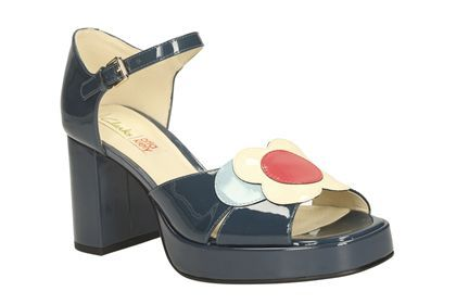 Womens Smart Sandals - Orla Betty in Navy/Multi from Clarks shoes
