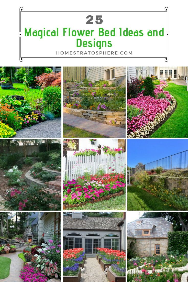 25 Magical Flower Bed Ideas And Designs Flower Beds Garden Landscaping Landscaping Supplies