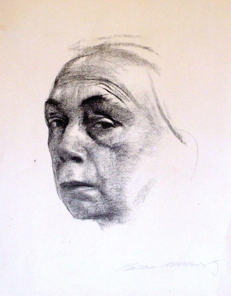 Käthe Kollwitz (1867 – 1945), German artist. 'Self-Portrait ', 1924