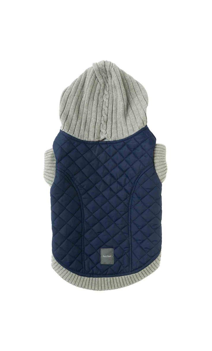 FuzzYard Jersey Hoodie Azul abrigo para perros