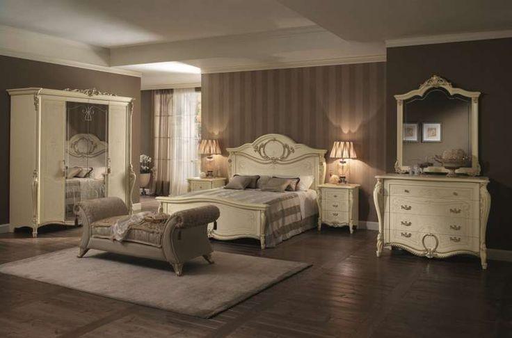 Arredare una camera da letto in stile liberty - Camera da letto liberty avorio