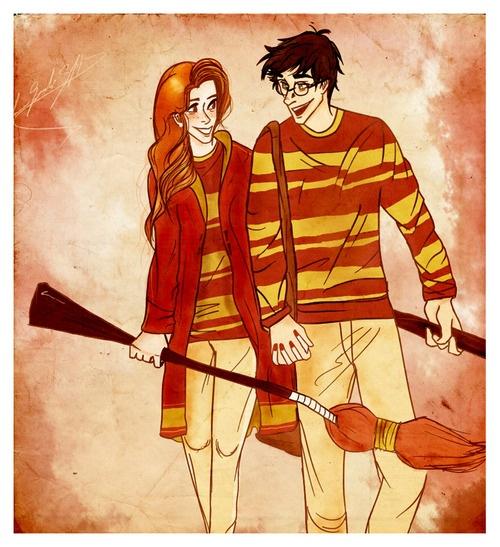 Harry Potter Fan Art-Harry and Ginny