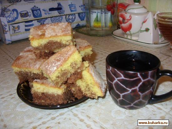 очень быстрый в приготовлении пирог из манки!