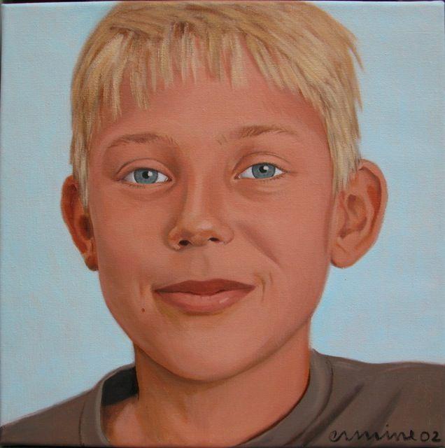 boy, 40x 40cm, oil on canvas ©ermine