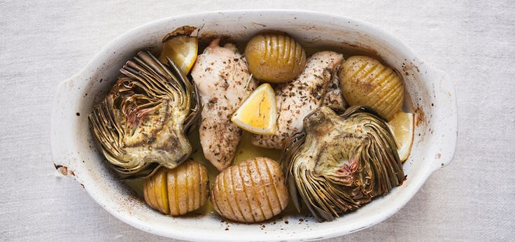 It's Artichoke Season! Try Them With This Roasted Chicken   Potatoes