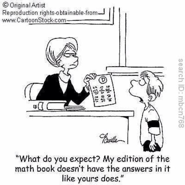 A Math Teacher Can Never Pass Up A Cute Math Cartoon : )