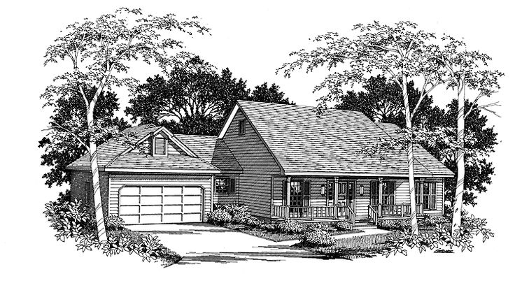 Country House Plan With 2085 Square Feet And 3 Bedrooms
