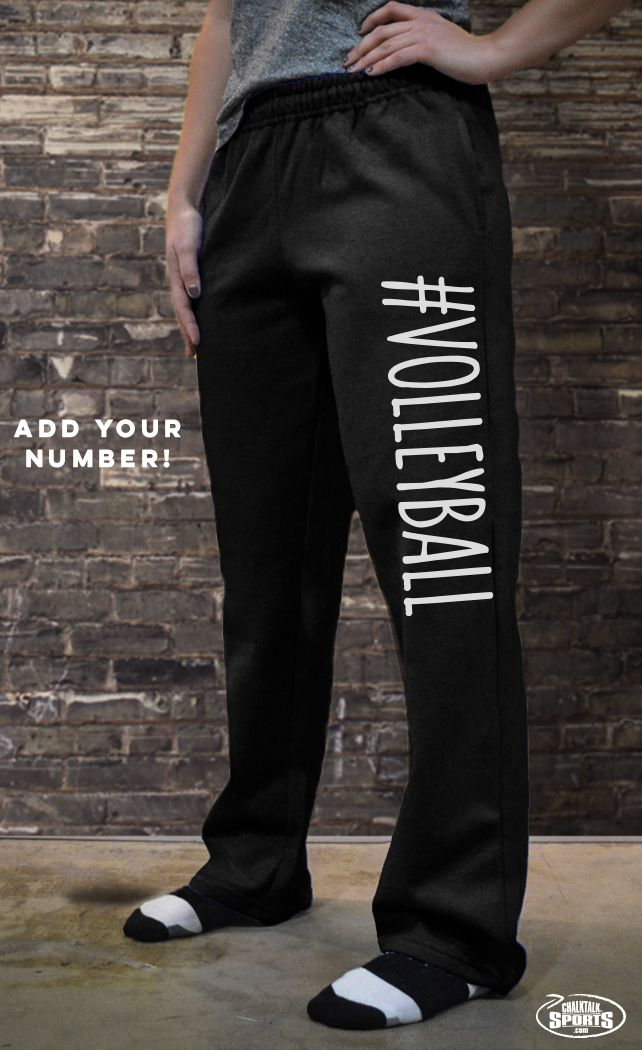 Our cute and cozy #volleyball sweatpants are the perfect way to show off your love for volleyball on and off the court!