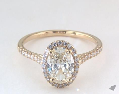 14K Yellow Gold Pave Halo Diamond Engagement Ring (Oval Center) | Diamond  engagement rings, Halo diamond and Blue nile