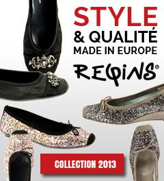 Ballerines Reqins en vente sur la boutique en ligne Chausty. Collection de chaussures Reqins Automne Hiver 2013.