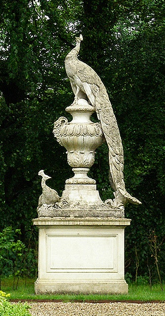 Our Peacock Urn is based off a gorgeous statue in Staverden, Newfoundland.