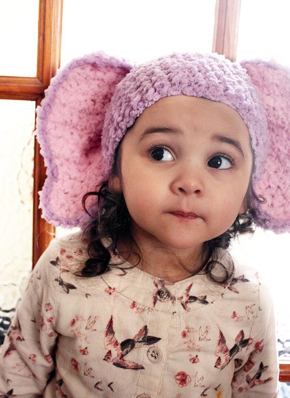 SUMMER SALE* Crochet lilac and baby pink inner ear elephant beanie hat. Handmade with love by Babamoon.   - 2T to 4T -   Shop now! Click to learn more. Can be made in other colours and sizes! *Save 10% in the Summer SALE! (Coupon SUMMER10)