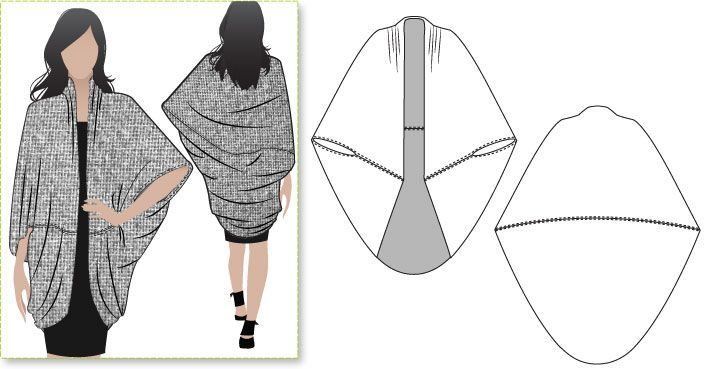 Oversized Shrug Pattern
