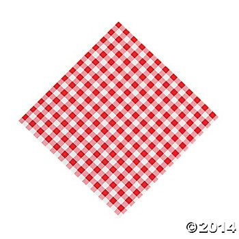 Red Gingham Lunch Napkins 48 Pk Party Supplies Canada - Open A Party