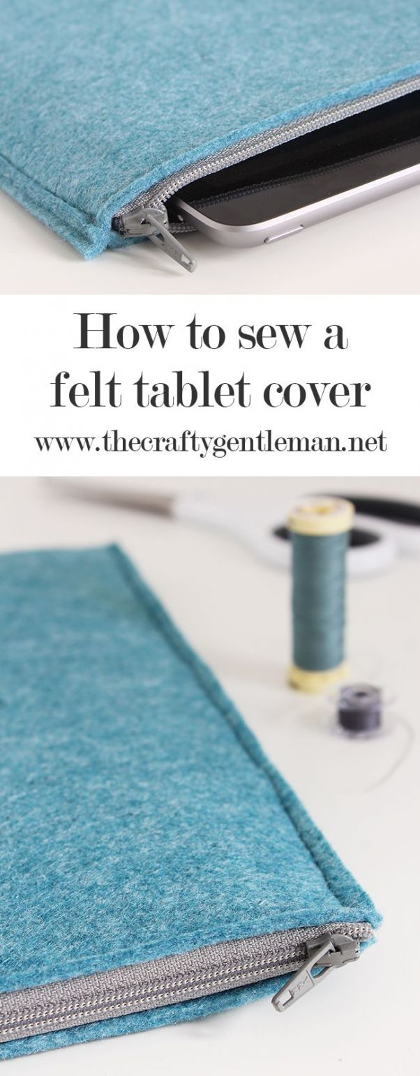 How to make an easy DIY iPad cover Handmade tablet pouch