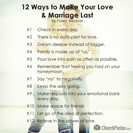 12 Ways to Make Your #Love and #Marriage Last