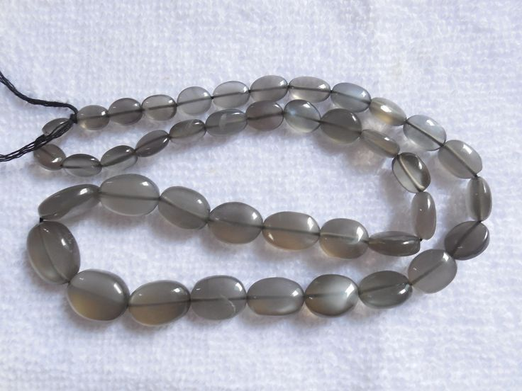 "14""Strand Natural Dark Grey Moonstone Oval Smooth Beads,Moonstone gemstone beads,Jewellry making Beads by InternationalByBeads on Etsy"