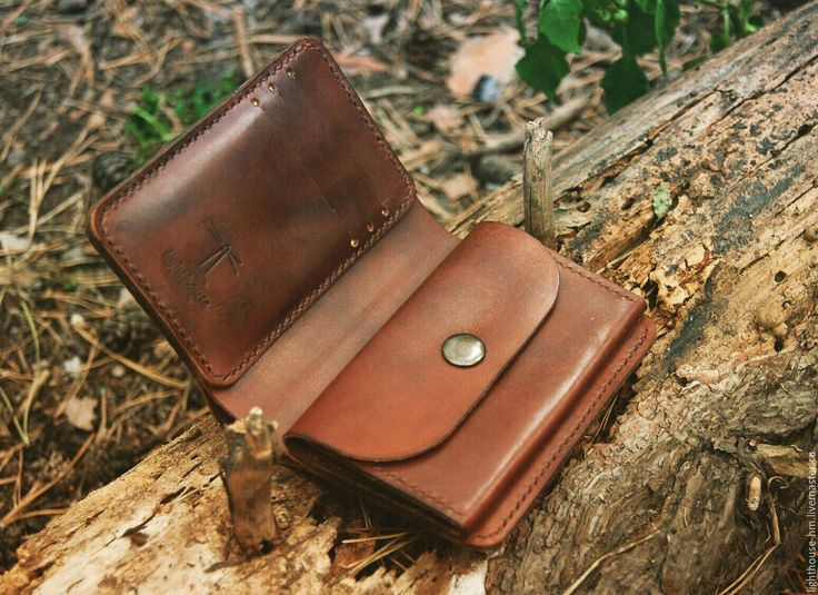 Купить Кошелек мужской - коричневый, кошелек ручной работы, кошелек из кожи, портмоне из кожи