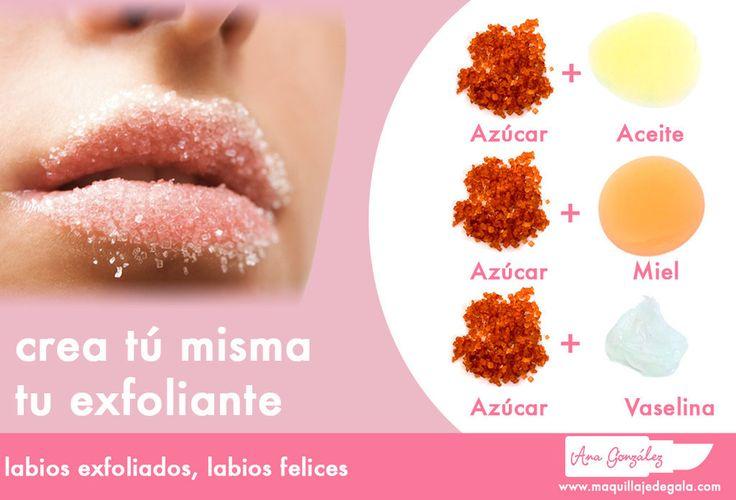 Crea tus propios exfoliantes para tener unos labios suaves.