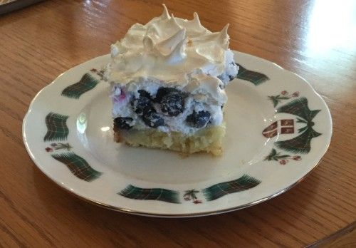 Blueberry Squares Newfoundland Recipe. Cookbook of Traditional Newfoundland Meals by Newfoundland.ws