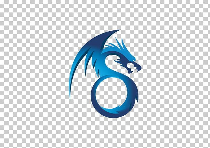 Logo Chinese Dragon Png Blue Brand Chinese Dragon Chinese Style Circle Chinese Dragon Dragon Mascot Design