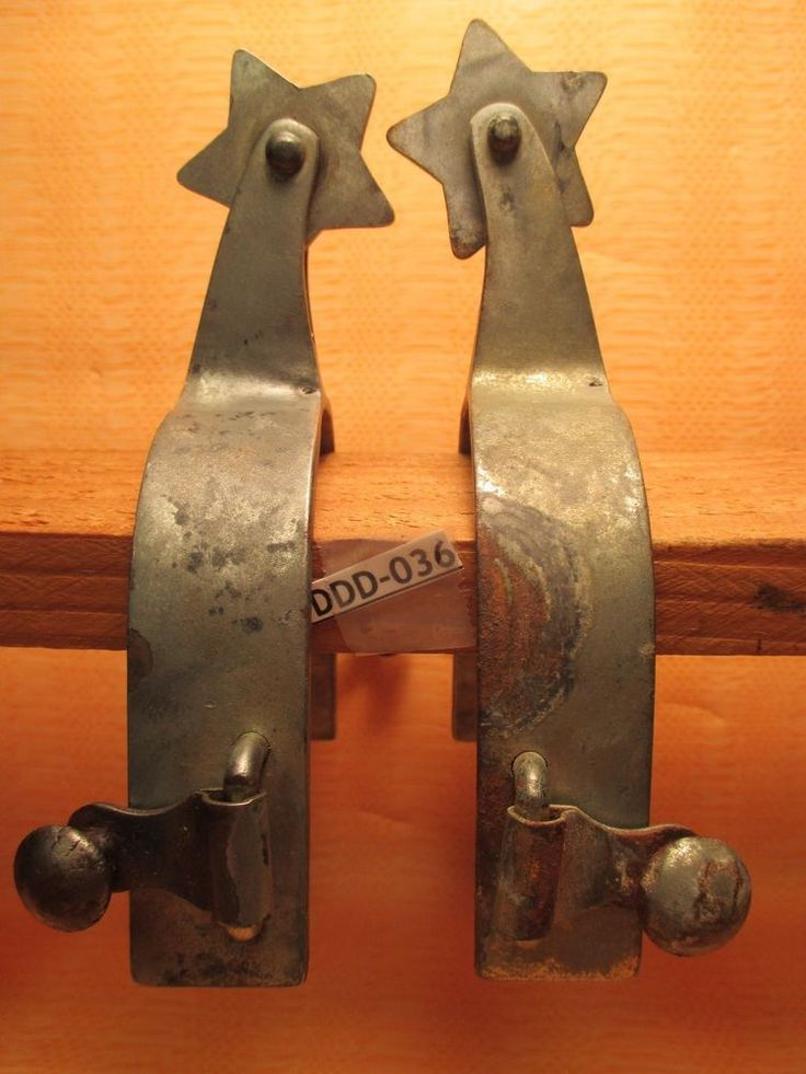 OLD TRADE-IN Imported WELL USED Star Rowel Rough Stock Cowboy SPURS  MAKE OFFER #AntiqueWestern