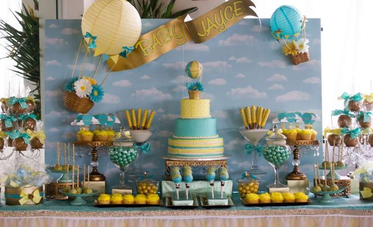 Up up and away Baby Shower Party Ideas