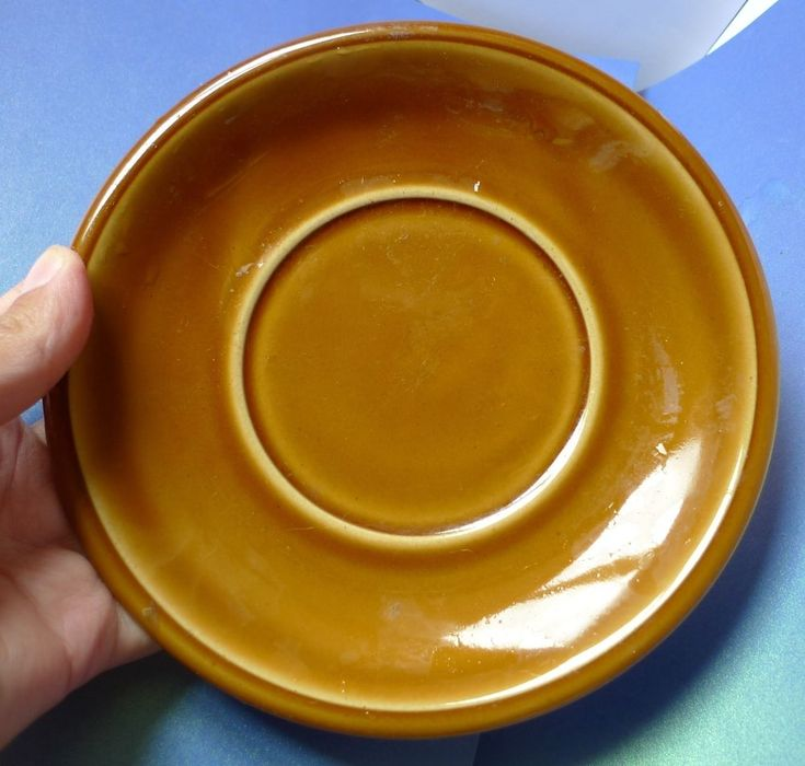 Vintage Germany Pottery GDR Dishwacher Safe Soulmaschinenfest PLATE Brown
