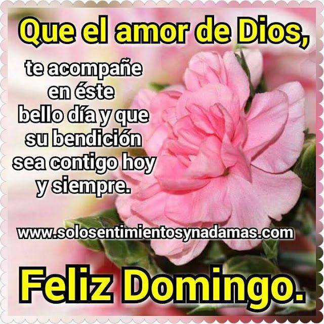 Solo sentimientos y nada mas : Que el amor de Dios, te acompañe en éste bello día...