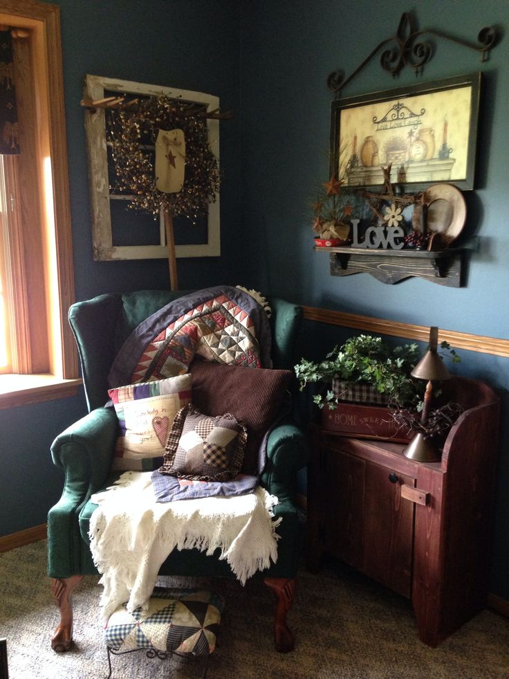 Best 25 primitive living room ideas on pinterest old country decor rustic primitive decor - Primitive curtains for living room ...