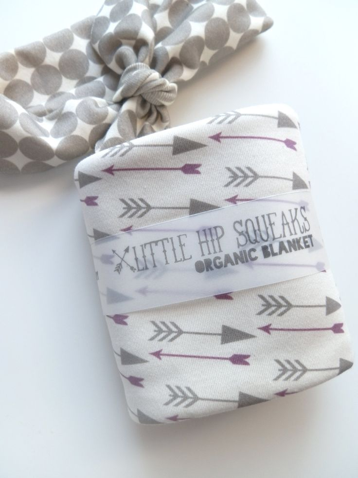Baby Girl Blanket, Grape and Gray Arrows, Ready to Ship, Modern Organic Baby Bedding, Baby Shower Gift. $45.15, via Etsy.