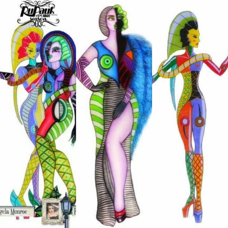 #RosettaDCaramel #AngelaMunroe High Seventh Episode # RuPaulsPaperRaceEnEspañol Third Time #RuPaulsDragRace #RuPaul #DragQueen #Facebook #GenderQueer #Ilustration # Illustration #Design #Design #Art #Art #Fashion #Moda #Draw #AvantGarde #PopCulture #MakeUp #HauteCouture #HighFashion #HighCast # Transformers #Gay