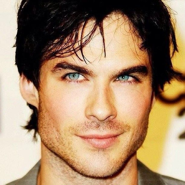 Major man crush #MCM #super #hottie #Ian #Somerhalder #blue #eyes #dark #hair #crooked #smile
