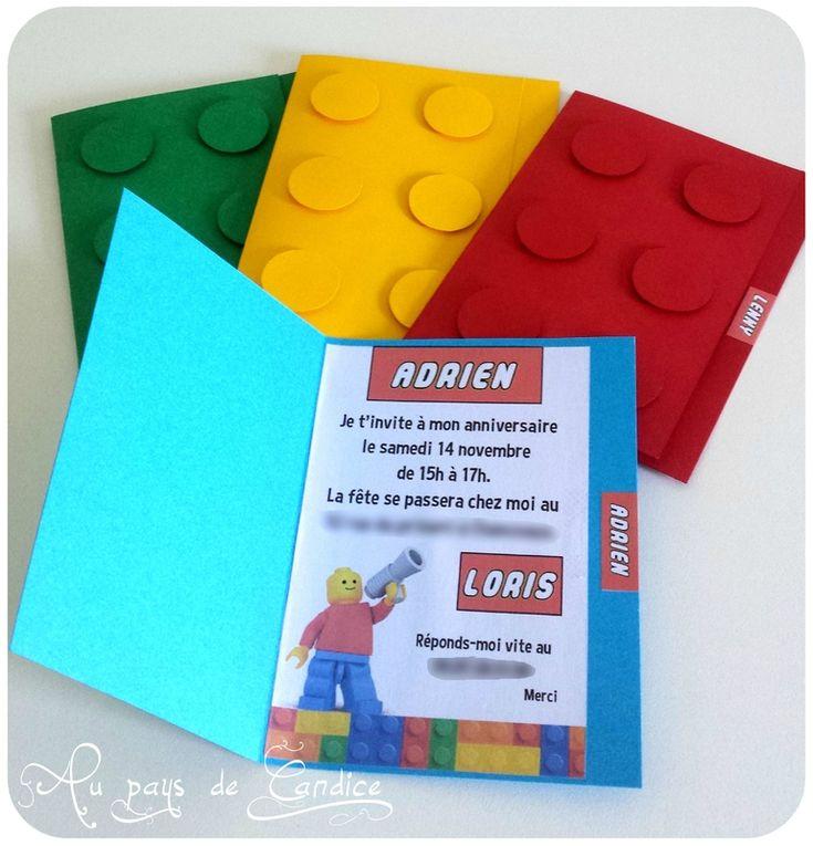 Jeux, goûter et invitation pour un anniversaire Lego - Au pays de Candice #lego
