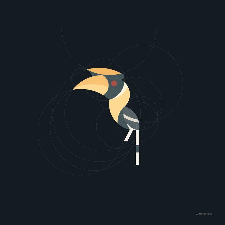 Geometric Hornbill kebo giraz on Behance
