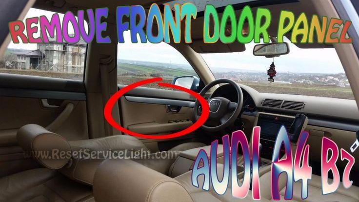 DIY remove door panel on Audi A4 B7
