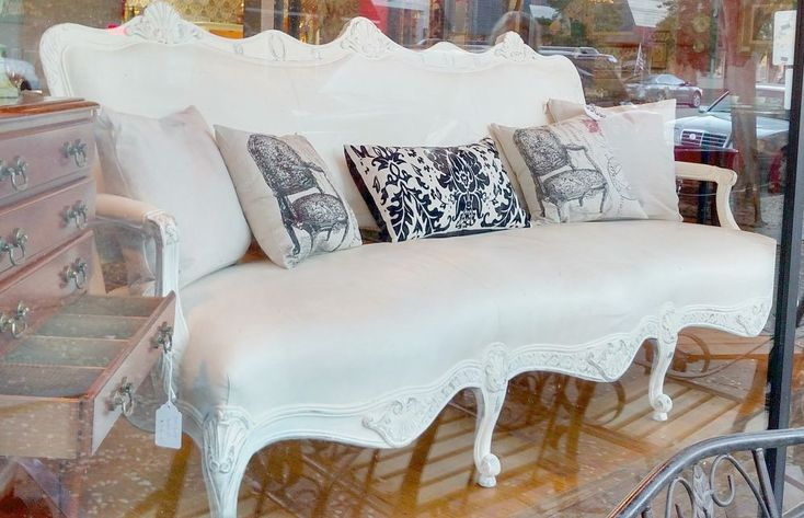 French Couch To French Settee With Chalk Paint See More