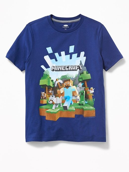 8037f9ed65dc9 Minecraft graphic t-shirt for boys #minecraft #affiliate   Kids ...