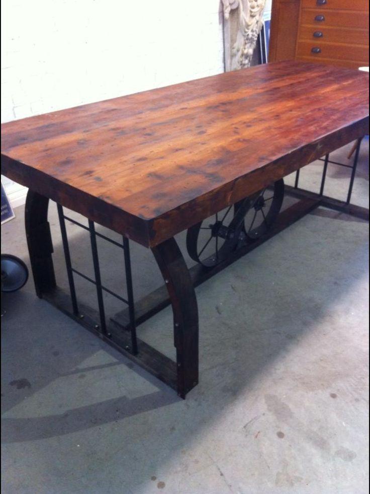 Industrial style desk worktable