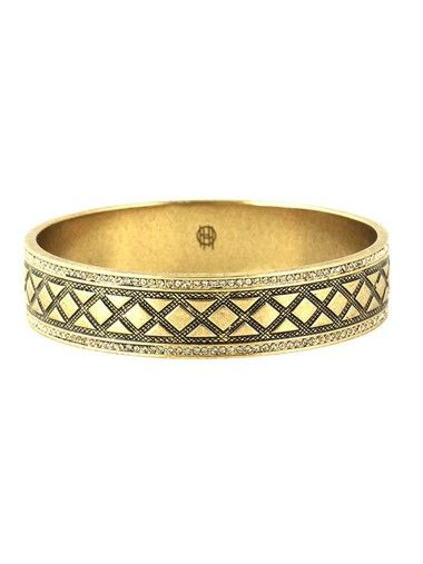 House of Harlow Shatki Engraved Bangle Gold - PRE ORDER - The Style Merchant